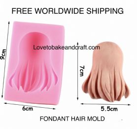 Hair Mold, Fondant hair, Sugarpaste hair, Gumpaste hair, Free worldwide shipping (1)